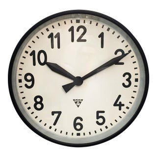 Large Industrial Factory Wall Clock by Pragatron For Sale