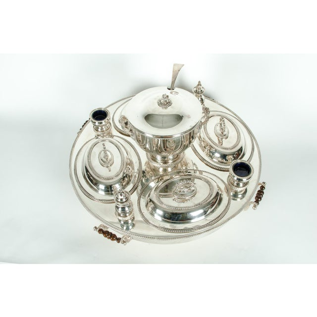 English Silver Plated Revolving Serving Dish Set of 9 For Sale - Image 12 of 12