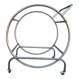1930s Bauhaus Inspired Art Deco Chrome Tubular Bar Cart For Sale