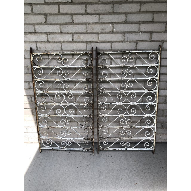 Late 19th Century 19th Century Victorian Wrought Iron Balustrade Sections - a Pair For Sale - Image 5 of 13