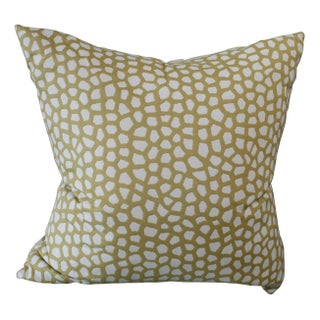 Custom Giraffe Print Pillow by Tamara Mack For Sale