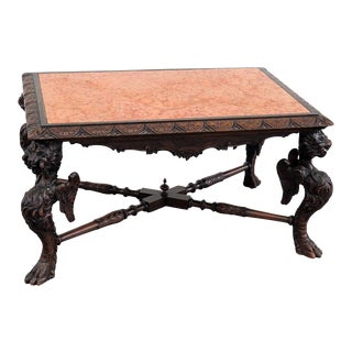 Victorian Marble Top Coffee Table For Sale