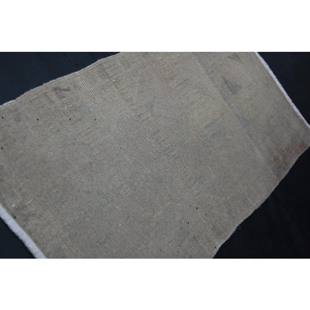 """Wonderful Muted Color Rug - 1'10"""" x 3'5"""" For Sale - Image 5 of 8"""