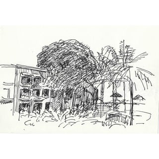Caribbean Resort by Hayward Cirker - 1970s For Sale
