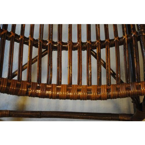 Italian Rattan Bamboo Arm Chair For Sale In Nashville - Image 6 of 8