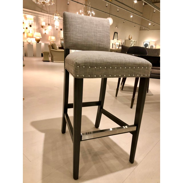 Traditional Vanguard Newton Barstools - Set of 4 For Sale - Image 3 of 5