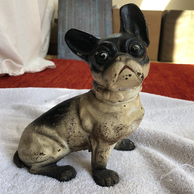 French Bulldog Iron Door Stop For Sale - Image 9 of 9