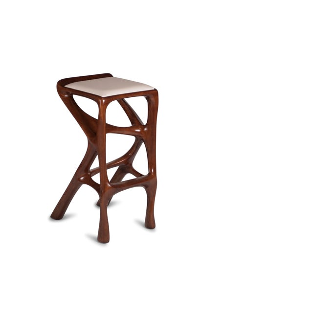 Amorph Chimera Bar Stool, Stained Walnut For Sale - Image 13 of 13