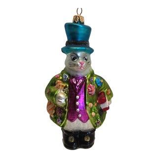 """Christopher Radko """"Dapper Drifts"""" White Rabbit Christmas Ornament"""