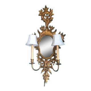 Beautiful Carved Venetian Style Gilded Wall Sconce