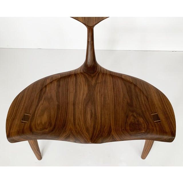 "Sculptural Walnut ""Whale"" Chair Morten Stenbaek For Sale - Image 9 of 13"