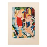 """Image of 1940s Raoul Dufy, Original Swiss Period """"Women Bathing"""" Lithograph For Sale"""
