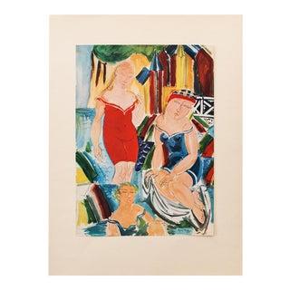 "1940s Raoul Dufy, Original Swiss Period ""Women Bathing"" Lithograph For Sale"
