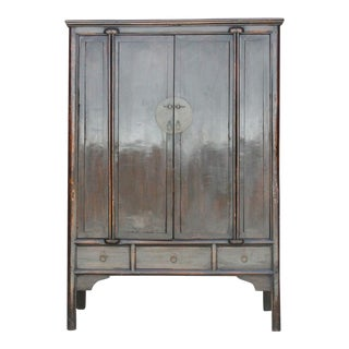 Grand Antique Chinese Marriage Armoire For Sale