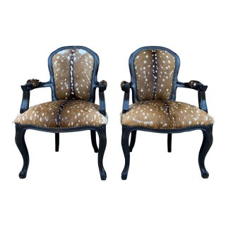 Modern Parker & Hyde Axis Deer Parlor Chairs- a Pair For Sale