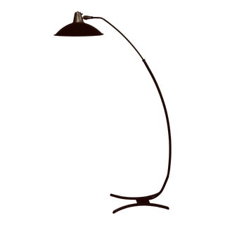 Vintage 50's Adjustable Arc Floor Lamp For Sale