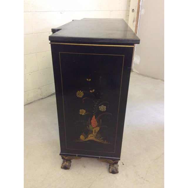 Vintage Chinoiserie-Style Flip Top Bar or Buffet - Image 4 of 9
