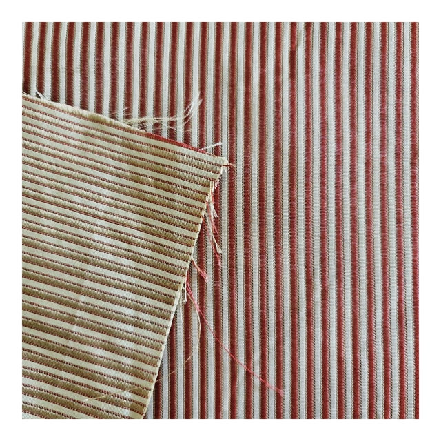 Holland & Sherry Chopard Stripe Silk Designer Fabric by the Yard For Sale