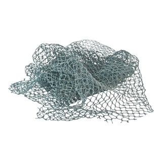 Aqua Teal Nautical Fishing Net For Sale