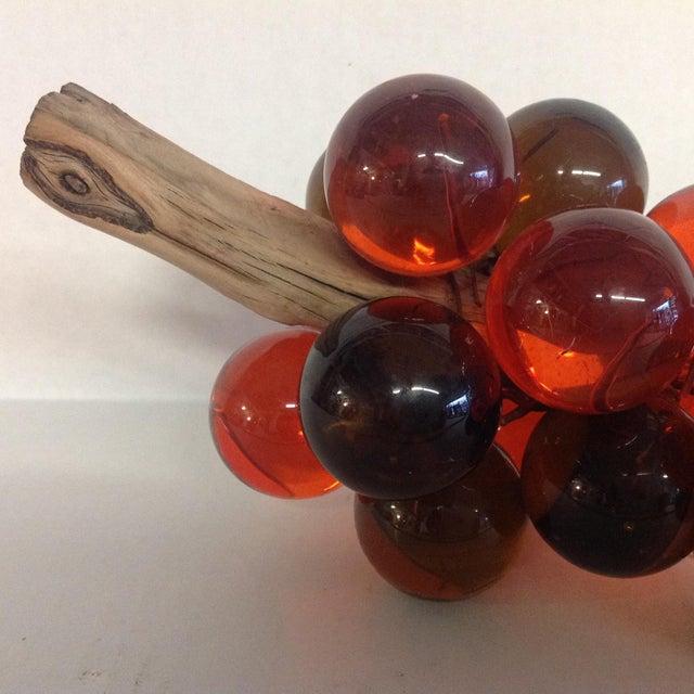 Vintage Mid-Century Orange Lucite Grapes - Image 6 of 7