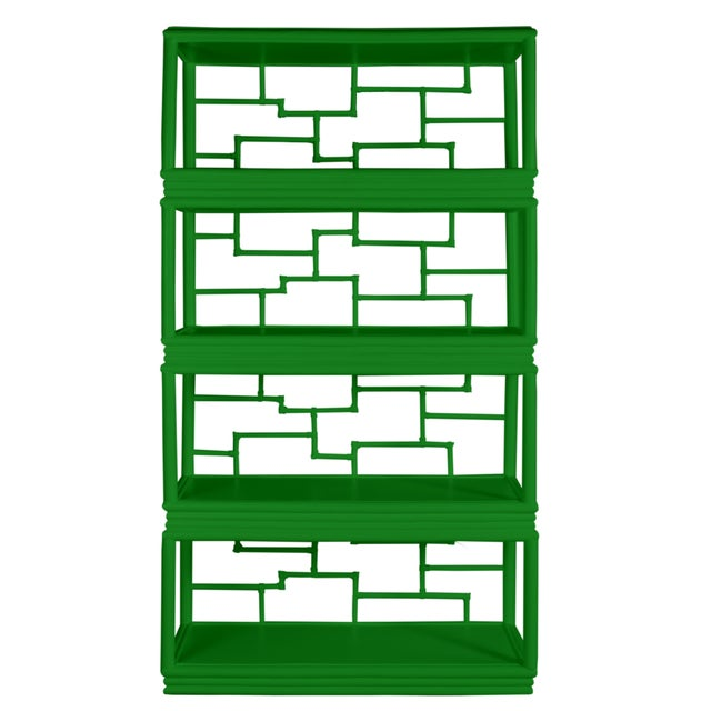 Coastal Tibet Etagere - Bright Green For Sale - Image 3 of 7