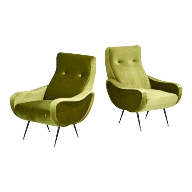 Marco Zanuso Style Mid-Century Lady Chairs - A Pair - Image 1 of 6
