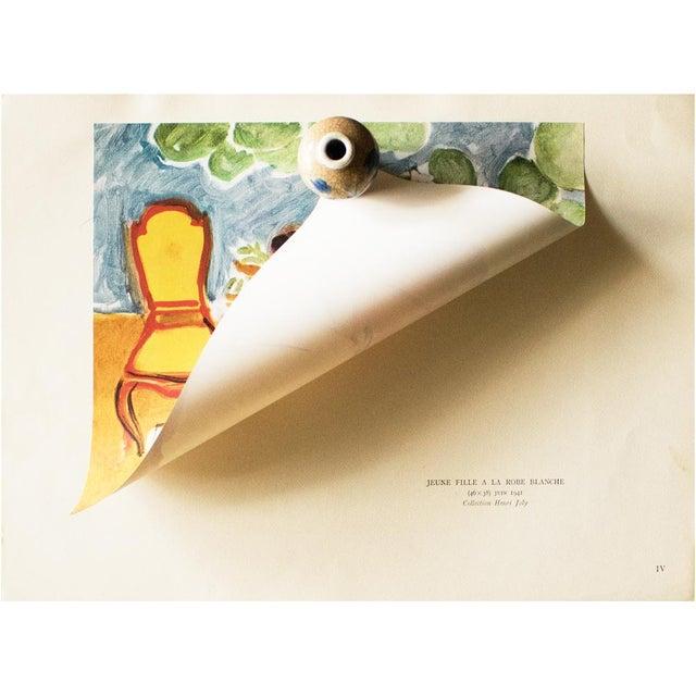 "Henri Matisse 1946 Henri Matisse, ""Girl in the White Dress"" Original Parisian Period Lithograph For Sale - Image 4 of 8"