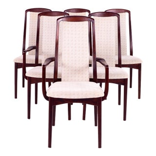 Mid Century Breox Mobler Snickerinytt Rosewood Dining Chairs - Set of 6 For Sale