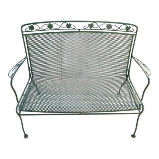 Russell Woodard Wrought Iron Bench Chair