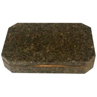 19th Century Swedish Gilt Bronze Mounted Green Granite Snuff Box For Sale