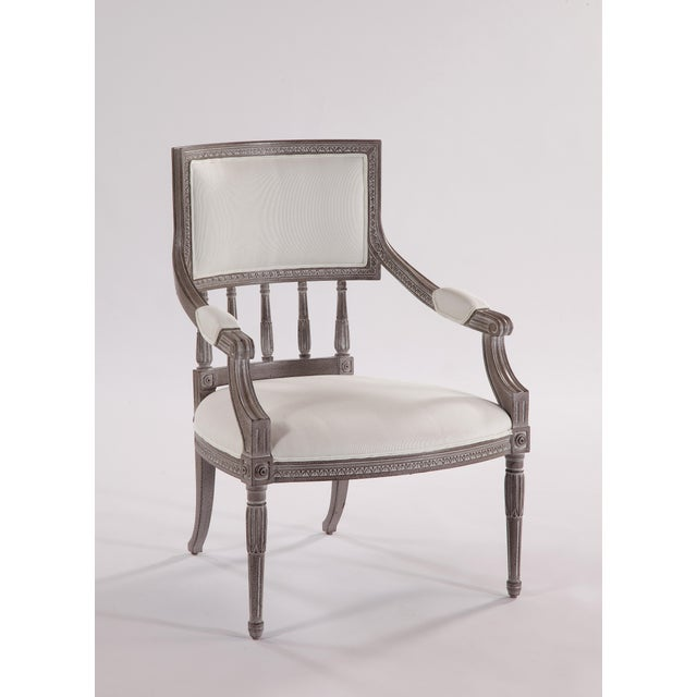 Swede Collection Swedish Spindle Back Dining Arm Chair For Sale - Image 4 of 5