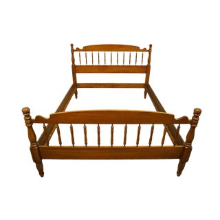 1950s Traditional Statton Trutype Americana Solid Cherry Full Size Bedframe For Sale