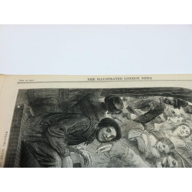 """1858 Antique Illustrated London News """"Welcome Given in Melbourne Australia to a Primrose From England"""" Print For Sale - Image 4 of 5"""