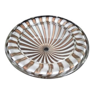 1950s Murano Glass Bowl by Fratelli Toso For Sale