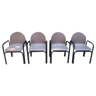 Vintage Knoll Gae Aulenti Dining Chairs - Set of 4