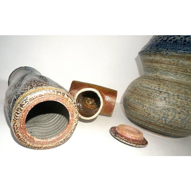 This collection of three Mid-Century Modern,studio art, stoneware pieces date from the 1960s. The three pieces were all...