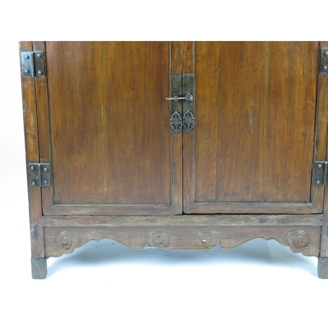 Asian Style Elmwood Book Cabinet For Sale In Boston - Image 6 of 8