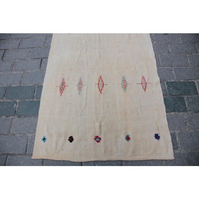 Anatolian Turkish Kilim - 10'11'' x 3'8'' - Image 2 of 11