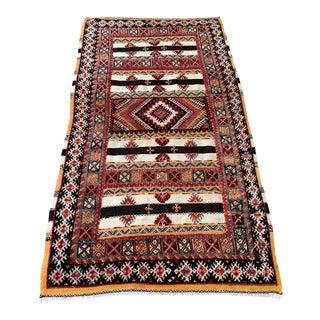 """Vintage Tribal Rug-3'10'x6'11"""" For Sale"""