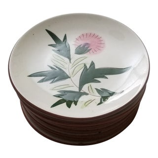 "Mid 20th Century Stangl ""Thistle"" Dessert Plates - Set of 8 For Sale"