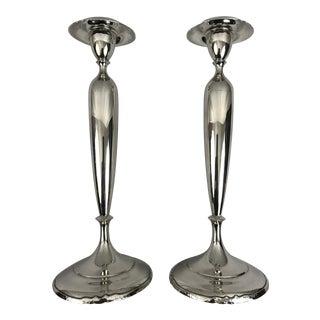 Vintage Sterling Silver Candlesticks by Shreve & Co. For Sale