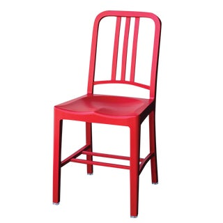 Set of 4 - Classic Navy Chair - Emeco Eco Friendly Red Chair