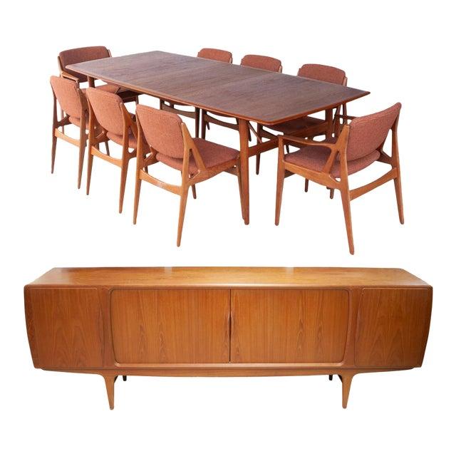 Astounding 1950S Danish Teak Dining Room Set 10 Pieces Squirreltailoven Fun Painted Chair Ideas Images Squirreltailovenorg
