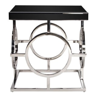 Kenneth Ludwig Stainless Steel Circle Table For Sale