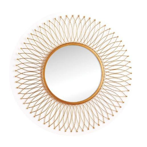Kenneth Ludwig Duval Gold Leaf Mirror For Sale In Chicago - Image 6 of 6
