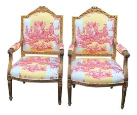 Image of Kitchen Bergere Chairs