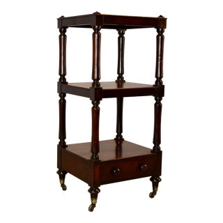 19th Century English Mahogany Étagère For Sale
