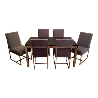 Mitchell Gold Parsons Dining Table & Gage Low Dining Chairs