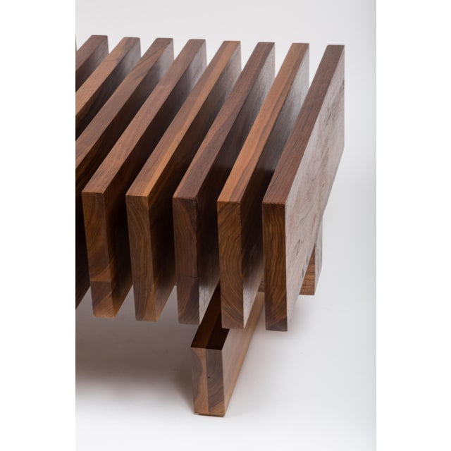 Solid Walnut Modernist Coffee Table For Sale - Image 4 of 7