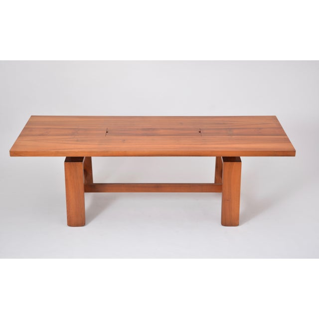 Large Dining Table in Walnut Veneer by Silvio Coppola, Bernini, Italy, 1964 For Sale - Image 10 of 12